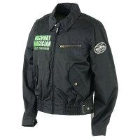 YeLLOW CORN YB-7100 テキスタイルジャケット ブラック/グリーン 3L