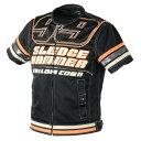 YeLLOW CORN YB-7129T メッシュTシャツ ブラック/オレンジ L