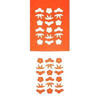 加藤萬 和 紅白手拭い 松竹梅 35×90cm H1502