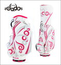 JADO ジャドゴルフ JGCB7871 Vast Tattooシリーズ キャディバッグ ホワイト×ピンク×シルバー