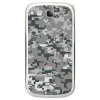 CASE DIGITAL camouflage グレー (クリア) design by Moisture / for GALAXY S III SC-06D/docomo
