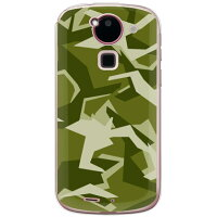 URBAN camouflage グリーン (クリア) design by Moisture / for ARROWS Kiss F-03E/docomo (SECOND SKIN)
