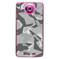 URBAN camouflage グレー (クリア) design by Moisture / for Disney Mobile on docomo N-03E/docomo (SECOND SKIN)