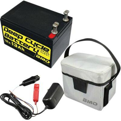 ビーエムオージャパン BMO JAPAN ディープサイクルバッテリー13Ah 本体、チャージャー、バッグセット BM-D13-SET