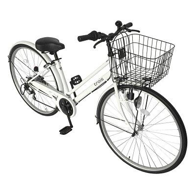 サントラスト 自転車 シティサイクル  ホワイト/白 自転車 trois トロワ ママチャリ 6段変