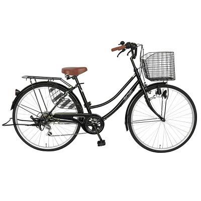 自転車 デザインフレームで人気 サントラストママチャリ 軽快車 ママチャリ