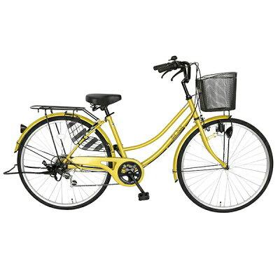 自転車 ママチャリ 軽快車 26インチ 外装6段ギア サントラスト SUNTRUST