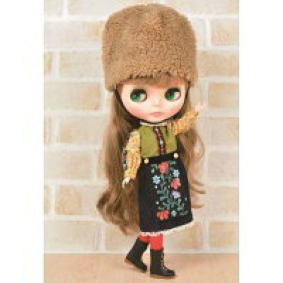 Dear Darling fashion for dolls「ファーハットガール 」ベージュ 22cmドール用