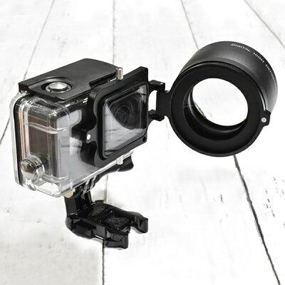 GLIDER GoProHERO6/5用2倍ズーム×2コンバーター58mm防水ハウジングGLD7685GO200専用 GLD9801 MJ28-58