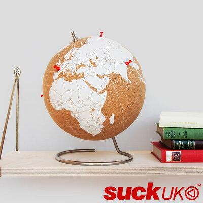 ホワイト コーク グローブ 大suckUK 地球儀 ギフト おもしろ雑貨