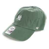 New York Yankees Base Runner '47 Clean Up Cap ダークグリーン×ホワイト