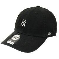 New York Yankees Base Runner '47 Clean Up Cap ブラック×ホワイト