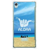 スマートフォンケース  光沢なし  HawaiianCollectionシリーズ ワイマナロビーチ クリア Xperia Z3 SOL26/au
