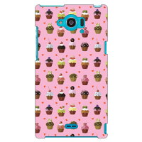Coverfull かわいいカップケーキ ピンク produced by COLOR STAGE / for Disney Mobile on docomo SH-02G/docomo DSH02G-ABWH-151-MBK8