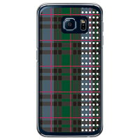 SECOND SKIN ブラックウォッチドット レッド クリア / for Galaxy S6 SC-05G/docomo DSC05G-PCCL-201-Y202