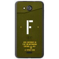 (スマホケース)Cf LTD ミリタリー イニシャル アルファベット F カーキ (クリア)/ for DIGNO C 404KC/Y!mobile (Coverfull)