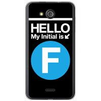 (スマホケース)Cf LTD サブウェイイニシャル F サックスブルー (クリア)/ for DIGNO C 404KC/Y!mobile (Coverfull)