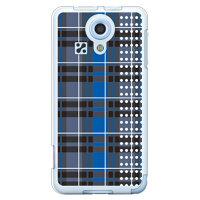 SECOND SKIN チェックドット ブルー ソフトTPUクリア / for miraie KYL23/au AKYL23-TPCL-701-J083