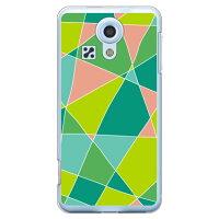 スマートフォンケース  ステンドグラス グリーン   クリア miraie  L23/au