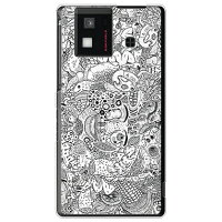 SECOND SKIN 混沌 クリア design by 326 / for AQUOS PHONE SH-06D/docomo DSHA6D-PCCL-326-Y747