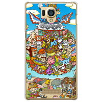 SECOND SKIN 弱虫 クリア design by 326 / for AQUOS Xx 304SH/SoftBank SSH304-PCCL-326-Y744