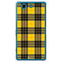 SECOND SKIN Tartan check イエロー クリア design by Moisture / for Xperia A4 SO-04G/docomo DSO04G-PCCL-277-Y467