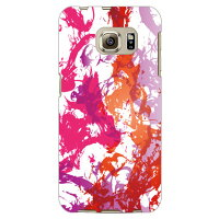 Coverfull ウォータードリップ レッド パープル produced by COLOR STAGE / for Galaxy S6 edge SCV31/au ASCV31-ABWH-151-MA37