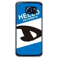 スマートフォンケース  Cf LTD ハローイニシャル D ブルー   クリア  Galaxy S6 SC-05G/docomo
