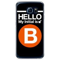 スマートフォンケース  Cf LTD サブウェイイニシャル B オレンジ クリア  Galaxy S6 SC-05G/docomo