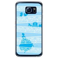 (スマホケース)レースプリンセス サックス (クリア)/ for Galaxy S6 SC-05G/docomo (Coverfull)