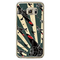 Coverfull 九七式 緑旭日シルエット クリア design by figeo / for Galaxy S6 edge SC-04G/docomo DSC04G-PCCL-152-M881