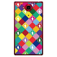 SECOND SKIN F rhombuses マルチ クリア design by ROTM / for AQUOS Xx 2015年夏モデル /SoftBank SSHAXX-PCCL-202-Y304