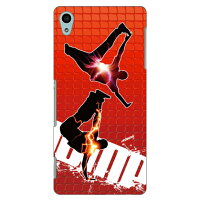 Coverfull breakin-red×yellow×red design by ARTWORK / for Xperia Z4 SOV31/au ASOV31-ABWH-151-M543