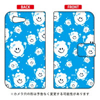 SECOND SKIN 手帳型ケース bubbles ライトブルー design by PansonWorks / for Xperia Z3 Compact SO-02G/docomo DSO02G-IJTC-401-LIY6