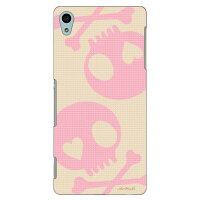 Coverfull スカル ベージュ×ピンク design by ARTWORK / for Xperia Z4 SO-03G/docomo DSO03G-ABWH-151-M791
