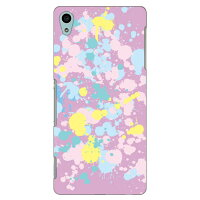 SECOND SKIN ドリップ パープル / for Xperia Z4 SO-03G/docomo DSO03G-ABWH-101-I032