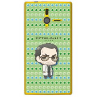 (スマホケース)PSYCHO-PASS サイコパス2シリーズ ちみキャラ 雑賀譲二 ドット柄 (クリア)/ for PANTONE 6 200SH/SoftBank