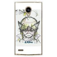 (スマホケース)夜ノヤッターマンシリーズ ラフ画 ドロンジョ/レパード ホワイト (クリア)/ for Fx0 LGL25/au