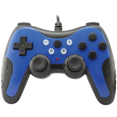 アンサー Switch用 USBコントローラPro Lite ブルー ANS-SW052BL(1個)