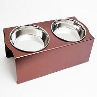 フードボウルテーブル Mサイズ ブラウン ペット 犬 イヌ 食器 OFT