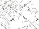 ENDURANCE 11.PLATE SCREW M5×25 バックステップキット EF650K26J1 :補修部品 GROM