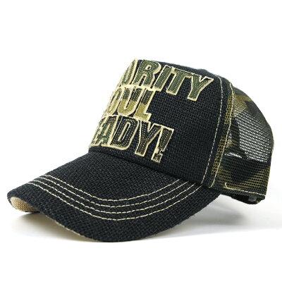 大きいサイズ/帽子/ガレージヘンプキャップ BIGWATCHブラック/カモ柄メッシュキャップ/黒/迷彩ヘンプ/ワッペンビッグワッチ/帽子