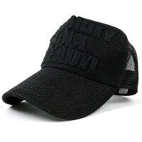 大きいサイズ/帽子/ガレージヘンプキャップ BIGWATCHオールブラックメッシュキャップ