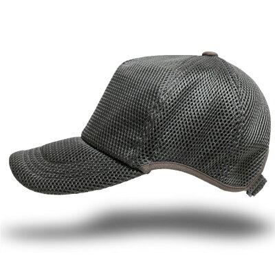 ビッグワッチ BIGWATCH 大きいサイズ 帽子 メンズ ゴルフ 無地 ラウンドメッシュキャップ グレー CPMG-04R