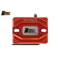 Dzell ディーゼル その他電装パーツ USB ONE ポート カラー:レッド BWS スモールリザーブタンクサイズ/グロム/PCX ニンジャ250