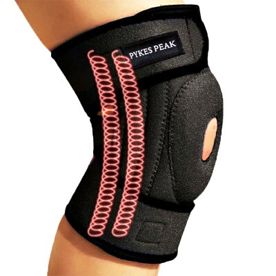 PYKES Peak 膝サポーター 関節靭帯保護 アウトドアスポーツ フリーサ