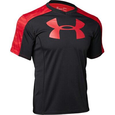 アンダーアーマー UNDER ARMOUR ラグビープラクティスシャツ UA Rugby Practice Shirt 001:BLK/RED/RED 1312828 メンズ