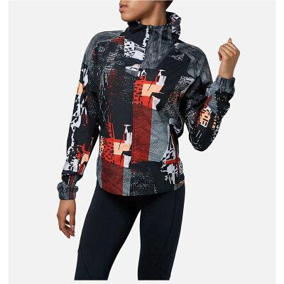 アンダーアーマー UNDER ARMOUR レディース プリントウーブンフルジップ ジャケット UA Printed Woven FZ Jacket ブラック/シルバー 1319767 002