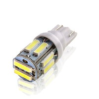 LEDバルブ T10 10連 ウェッジ球 SAMSUNG製 7020 ポジションランプ ナンバー灯 ホワイト レッド ブルー