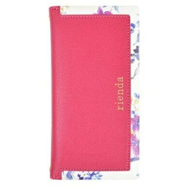 エムディーシー iPhone 8用 rienda スクエア ブラーフラワー ピンク md-72717